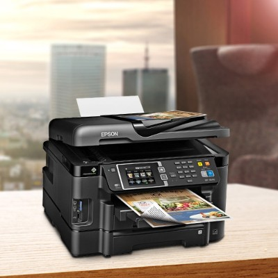 Epson C11CD16201 WorkForce WF-3640 Wireless All-in-One Inkjet Printer with Scanner and Copier iwth AirPrint