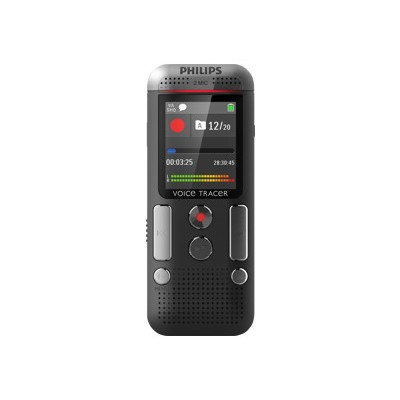 Philips DVT2500/00 Voice Tracer DVT2500 - Voice recorder - 110 mW - 4 GB - chrome  anthracite