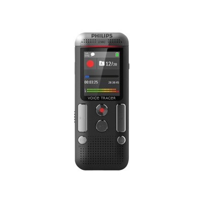 Philips Dvt2700/00 Voice Tracer Dvt2700 - Voice Recorder - 110 Mw - 4 Gb - Display: 1.77 In - Chrome  Anthracite