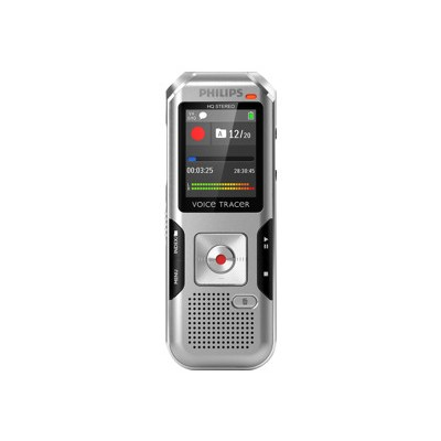Philips DVT4000/00 Voice Tracer DVT4000 - Voice recorder - 300 mW - 4 GB - display: 1.77 in - chrome  silver shadow