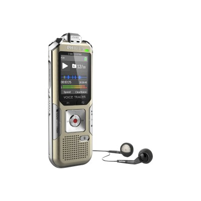 Philips DVT6500/00 Voice Tracer DVT6500 - Voice recorder - 110 mW - 4 GB - champagne  silver shadow