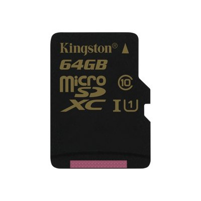 Kingston Digital SDCA10/64GBSP 64GB microSDXC CL10 UHS-I 90R/45W Single Pack w/o Adapter