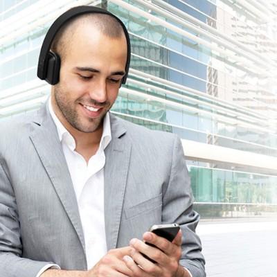 Aluratek ABH04FB Bluetooth Wireless Stereo Headphones - Black