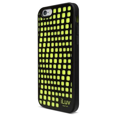 iLuv Creative Technology AI6AURWBK Aurora Wave Glow-in-the-dark Case for iPhone 6s & 6 (4.7) - Black