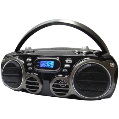 Sylvania SRCD682BT Bluetooth Portable CD Radio Boom Box with AM/FM Radio