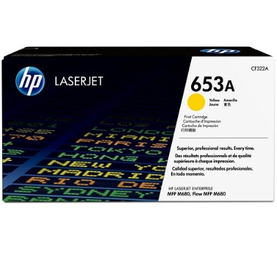 HP Inc. CF322A 653A Yellow Original LaserJet Toner Cartridge