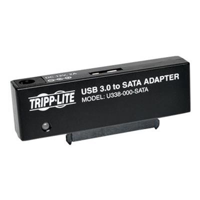 TrippLite U338-000-SATA USB 3.0 SuperSpeed to SATA III Adapter 2.5in / 3.5in Hard Drives - Storage controller - 2.5  3.5 - SATA 6Gb/s - 600 MBps - USB 3.0 - bla