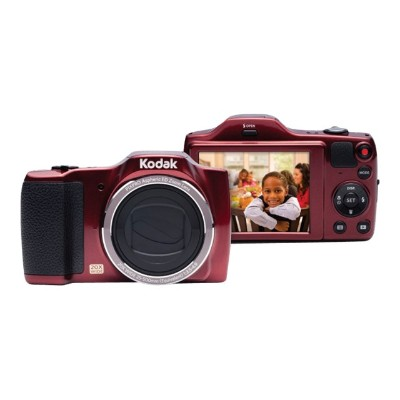 Kodak FZ201-RD PIXPRO Friendly Zoom FZ201 - Digital camera - compact - 16.15 MP - 720p - 20x optical zoom - red