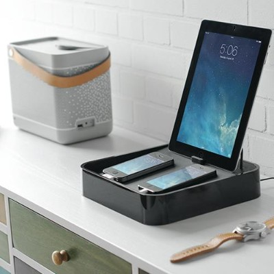 Bluelounge Design S4-BL Sanctuary 4 Charging Station 4 The perfect home for your iPhone  iPod & iPad - Black