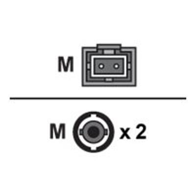 Axiom Memory STMTMD6O-25M-AX AX - Network cable - MT-RJ multi-mode (M) to ST multi-mode (M) - 82 ft - fiber optic - 62.5 / 125 micron - OM1 - riser - orange