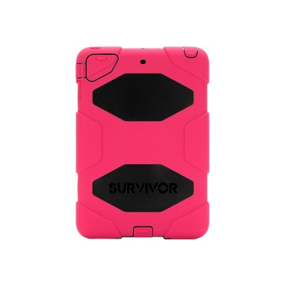 Griffin GB35920-3 Survivor All-Terrain - Protective case for tablet - silicone polycarbonate - black pink - for Apple iPad mini iPad mini 2