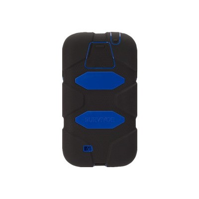 Griffin GB37804-2 Survivor All-Terrain - Protective case for cell phone - silicone  polycarbonate - black  blue - for Samsung GALAXY S4