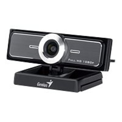 Genius 32200213101 WideCam F100 - Web camera - color - 12 MP - 1920 x 1080 - audio - USB 2.0 - MJPEG  WMV