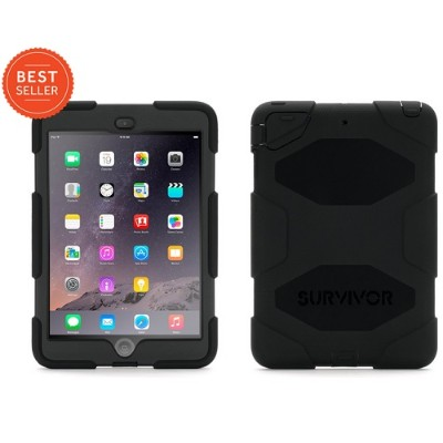 Griffin GB35918-3 Survivor All-Terrain for iPad mini 1/2/3 - Black/Black (Touch ID Compatible)