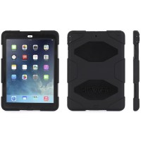 Griffin Survivor All-Terrain - Protective case for tablet - silicone, polycarbonate - black/black - for Apple iPad Air