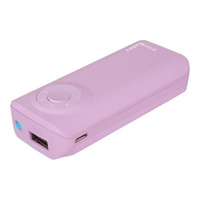 Urban Factory BAT54UF Emergency Battery - External battery pack 5600 mAh - on cable: Micro-USB  30-pin Apple  mini-USB - light purple