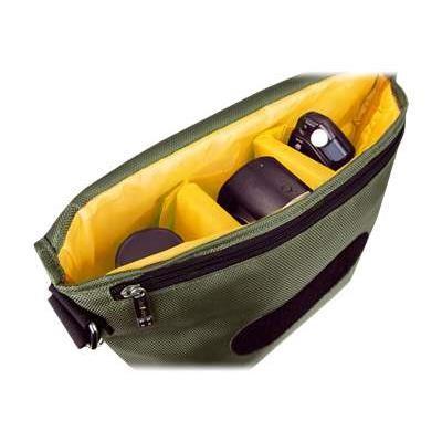 Urban Factory BCR06UF B-Colors - Shoulder bag for digital photo camera with lenses - 1680D nylon - orange  khaki