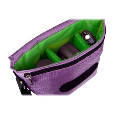 Urban Factory BCR07UF B-Colors - Shoulder bag for digital photo camera with lenses - 1680D nylon - purple  green