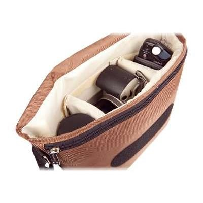Urban Factory BCR09UF B-Colors - Shoulder bag for digital photo camera with lenses - 1680D nylon - beige  chocolate
