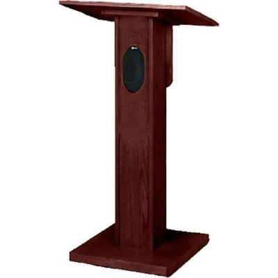 AmpliVox Sound Systems S355-MH Elite Lectern with Sound System - Mahogany
