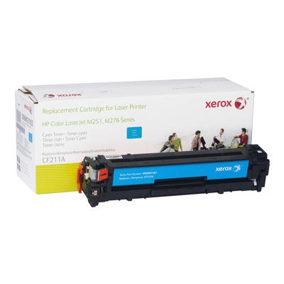 Xerox 006R03182 Cyan Toner Cartridge Replacement for HP CF211A for use with HP LaserJet Pro 200 M251n  200 M251nw  MFP M276n  MFP M276nw
