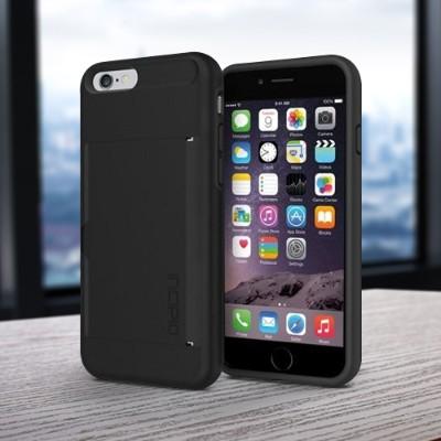 Incipio IPH-1185-BLK Stowaway Case for iPhone 6 - Black / Black