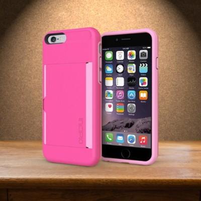 Incipio IPH-1185-PNK Stowaway Case for iPhone 6s & 6s & 6 - Pink / Light Pink