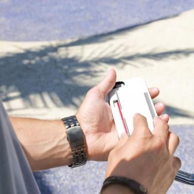 Incipio IPH-1185-WHTGRY Stowaway Case for iPhone 6s & 6s & 6 - White / Dark Gray