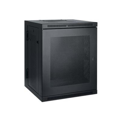 TrippLite SRW15US 15U Wall Mount Rack Enclosure Cabinet Wallmount Hinged with Doors & Sides 200lb Capacity