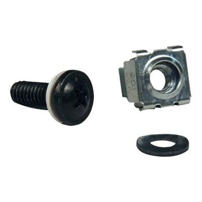 TrippLite SRCAGENUT5MM Rack Enclosure Cabinet Square Hole Hardware Kit M5 Screws & Washers  50 Pieces