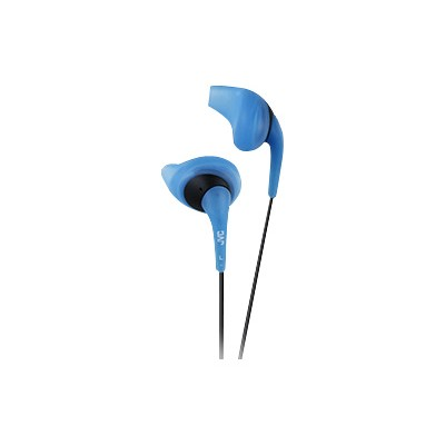 JVC HAEN10A Gumy Sport Binaural Ear Bud Headphones - Blue