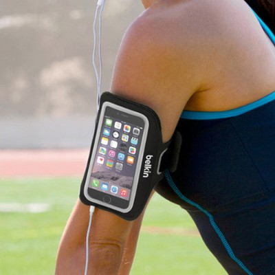 Belkin F8W500-C00 Sport-Fit Plus Armband for iPhone 6 - Blacktop/Overcast