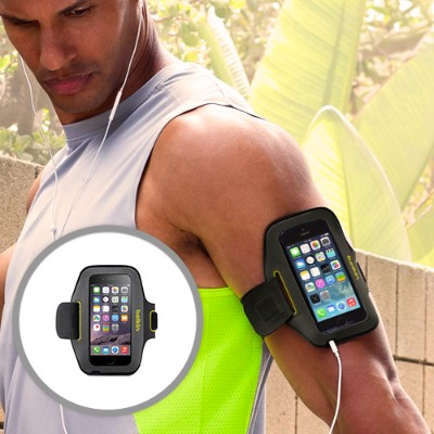 Belkin F8W500-C02 Sport-Fit Armband for Apple iPhone 6 - Blacktop/Limelight