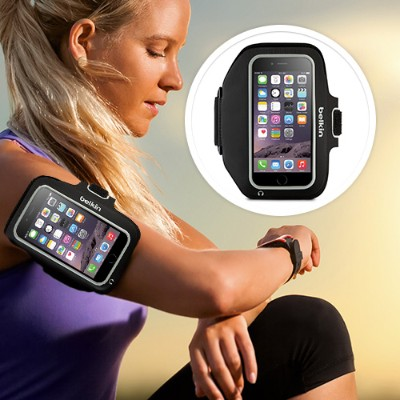 Belkin F8W501-C00 Sport-Fit Plus Armband for iPhone 6 - Blacktop/Overcast