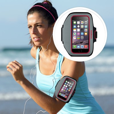 Belkin F8W501-C01 Sport-Fit Plus Armband for iPhone 6 - SideWalk/Fuchsia