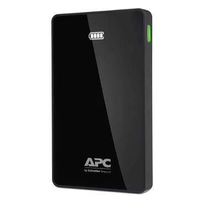 APC M10BK Mobile Power Pack - Power bank Li-pol 10000 mAh - 2.4 A - 2 output connectors (USB (power only)) - black