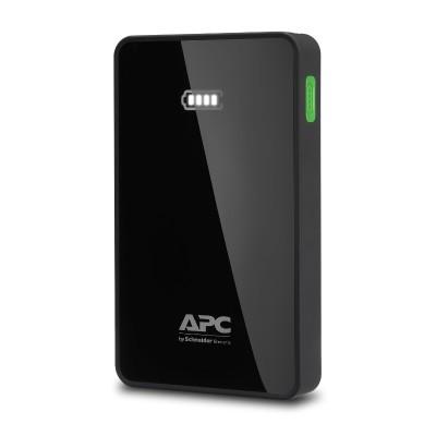 APC M5BK Mobile Power Pack - Power bank Li-pol 5000 mAh - 2.4 A - 2 output connectors (USB (power only)) - black