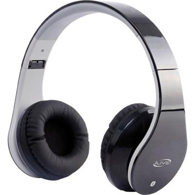 GPX IAHB64B iLive Bluetooth Stereo Over-Ear Headphones with Microphone - 40mm Driver & 8 Hours of Battery Life