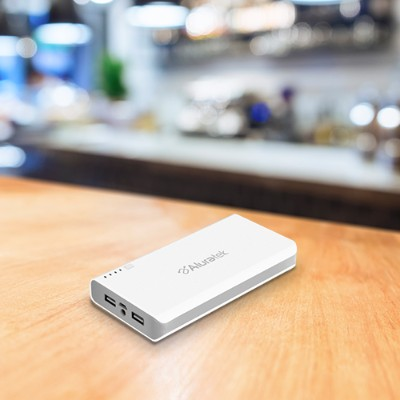 Aluratek APB14F Portable Battery Charger - Power bank Li-Ion 12000 mAh - 2 output connectors (USB (power only))