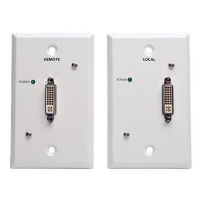 TrippLite B140-1P1-WP-1 DVI over Cat5/Cat6 Passive Extender Wallplate Kit  Transmitter and Receiver  1920x1080 60Hz  Up to 100-ft.