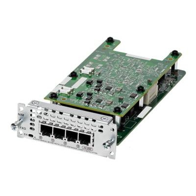 Cisco NIM-4FXO= Fourth-Generation Network Interface Module - Voice / fax module - analog ports: 4