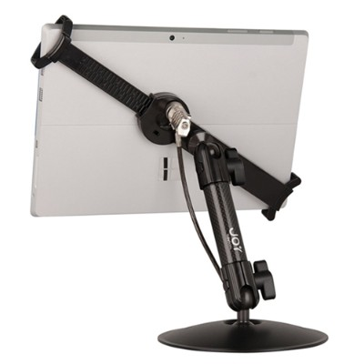 The Joy Factory MNU111CL LockDown Universal Desk/Countertop Carbon Fiber Stand w/ Combination Lock for 7 - 11 Tablets