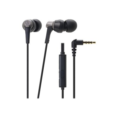 Audio - Technica ATH-CKR3ISBK SonicPro In-Ear Headphones with In-line Mic & Control - Black