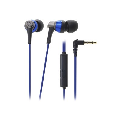 Audio - Technica ATH-CKR3ISBL SonicPro In-Ear Headphones with In-line Mic & Control - Blue
