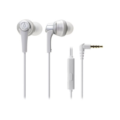 Audio - Technica ATH-CKR5ISWH SonicPro In-Ear Headphones with In-line Mic & Control - White
