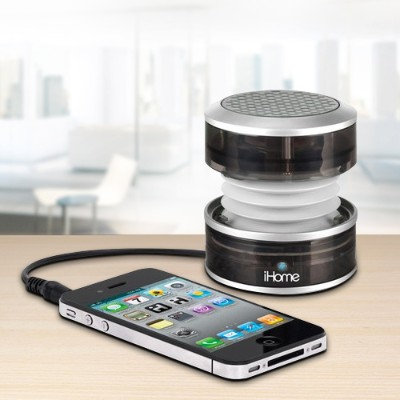 iHome IM60GT Rechargeable Mini Speaker - Gray