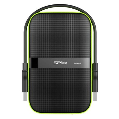 Silicon Power SP010TBPHDA60S3K 1TB 2.5 Rugged Armor A60 Shockproof Water-Resistant USB 3.0 Portable External Hard Drive - Black