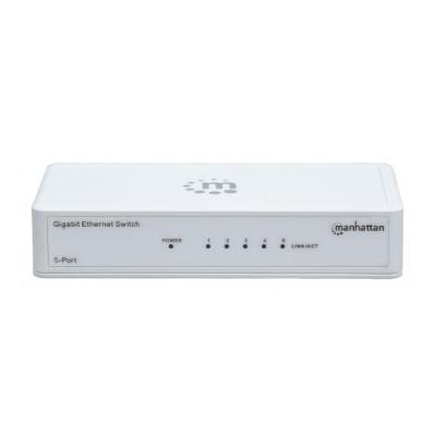 Manhattan 560696 5-Port Gigabit Ethernet Switch - Switch - 5 x 10/100/1000 - desktop