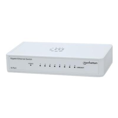 Manhattan 560702 8-Port Gigabit Ethernet Switch - Switch - 8 x 10/100/1000 - desktop