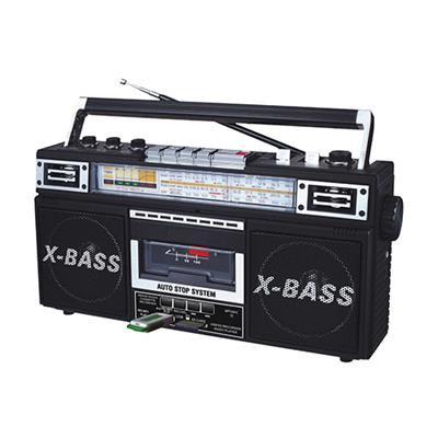 Qfx J-22u-blk Retro Collection Boom Box - Black